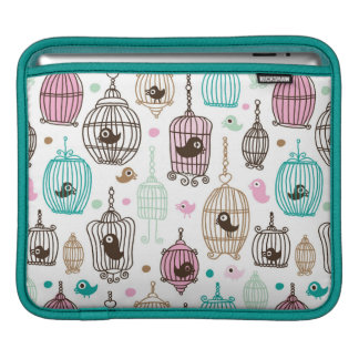 bird cage love kids background pattern sleeves for iPads