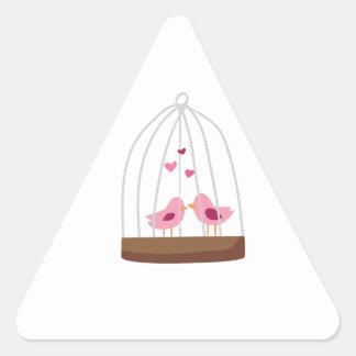 Bird Cage Triangle Sticker