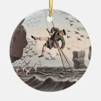 Bird Catching from Above, engraved by Matthew Dubo Christmas Ornament