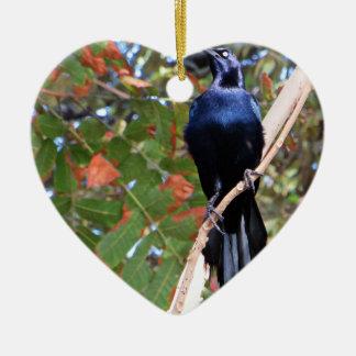 Bird Ceramic Heart Decoration