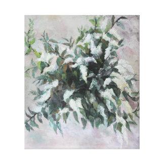 Bird Cherry bouquet oil painting Canvas Print