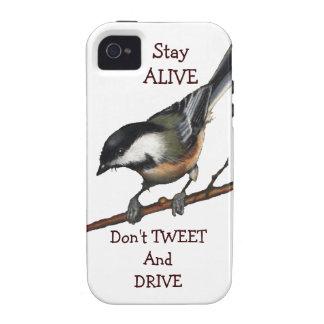Bird Chickadee Don t Tweet Drive Preserve Life iPhone 4/4S Covers