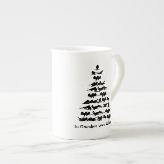 Bird Christmas Tree Tea Cup