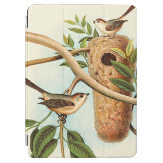 Bird Couple on a Nest Perched on a Branch iPad Air Cover