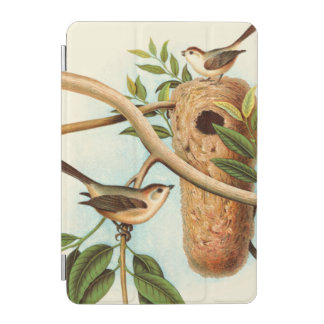 Bird Couple on a Nest Perched on a Branch iPad Mini Cover