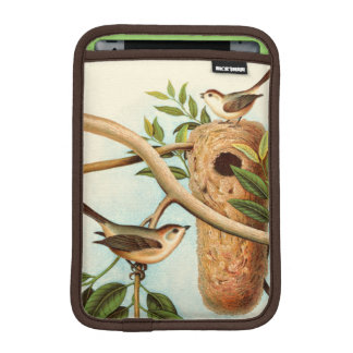 Bird Couple on a Nest Perched on a Branch iPad Mini Sleeve