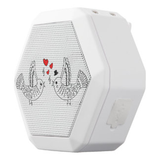 Bird Couple White Bluetooth Speaker