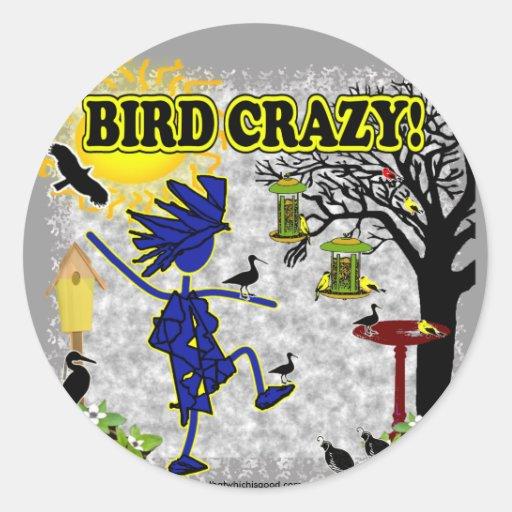 Bird Crazy Clothing Shirt & More Stickers