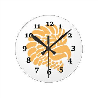 Bird Design Round Clock