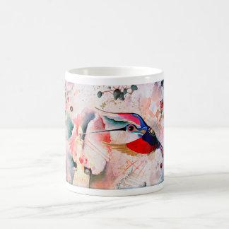 BIRD DRINKING a CANDLE LIGHT. Moltchanoph Inc. Basic White Mug