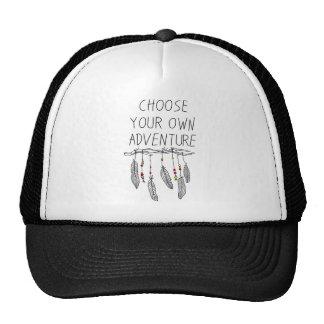 bird feather image trucker hats