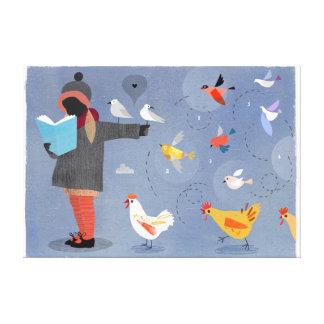 Bird Feeder - Canvas Print Canvas Print