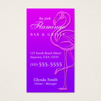 Bird / Flamingo Business Card