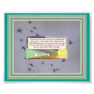 Bird Flight Photo with Freedom Quote and Sky Art