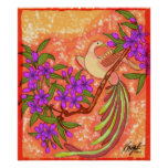 Bird Floral Poster