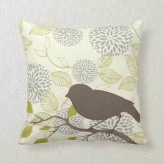 Bird & Flower Pillow Throw Cushion