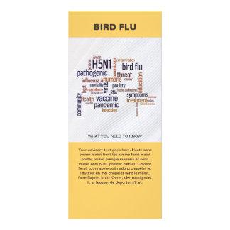 Bird Flu Awareness Word Cloud Information Template Custom Rack Cards