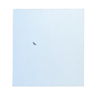 Bird Flying High in a Blue Sky Notepad