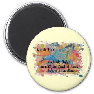 Bird Flying Messianic Jew bible verse Christian 6 Cm Round Magnet