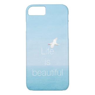 Bird Flying over Ocean in Hawaii Inspirational iPhone 8/7 Case