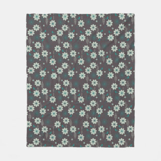 Bird Garden Pattern Fleece Blanket