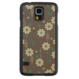 Bird Garden Pattern Maple Galaxy S5 Slim Case