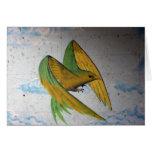 Bird Graffiti, Basel, Switzerland Greeting Card