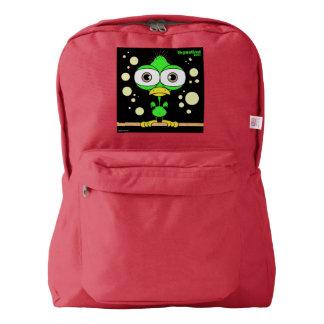 Bird(Green) Backpack, Red Backpack