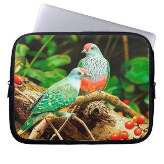Bird green_funda computer sleeves