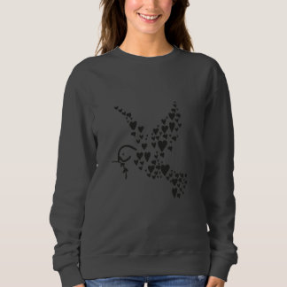 Bird Heart Graphic Design Jumper Sweatshirt