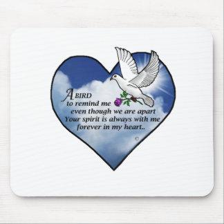 Bird Heart Poem Mouse Pad