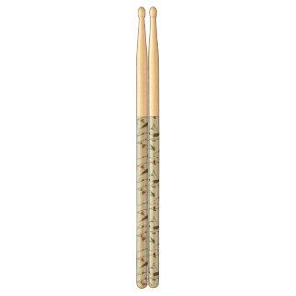 Bird Holiday Pattern Drumsticks