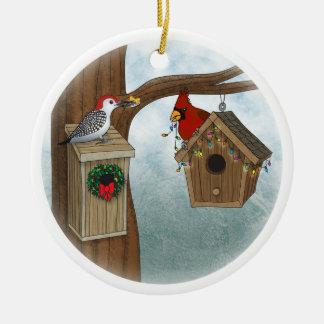 Bird House Holiday Christmas Ornament