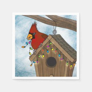 Bird House Holiday Paper Napkins