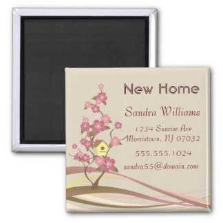 Bird House New Home Announcement Custom Magnet