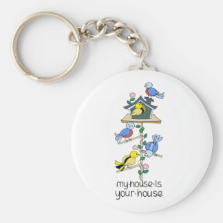 Bird Houses My House is Your House Key Ring