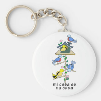 Bird Houses My House is Your House - Spanish Key Ring