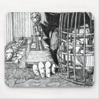 Bird in a Cage Mousepad