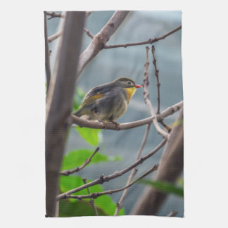 Bird in a tree kitchen towel