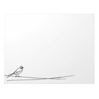 bird in a wire notepad