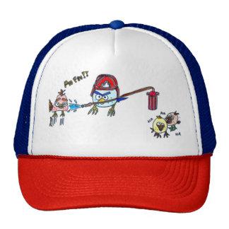 Bird in anger fireman cap
