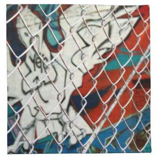 Bird In Cage Printed Napkin