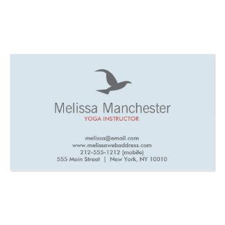 Bird in Flight Logo (Lt Blue/Gray) Business Card