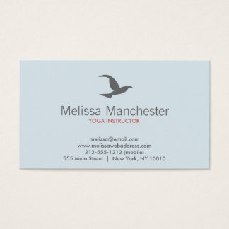 Bird in Flight Logo (Lt Blue/Gray) Business Card