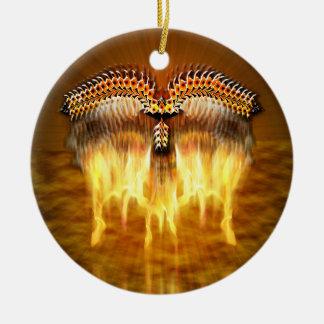 Bird in Flight Round Ceramic Decoration