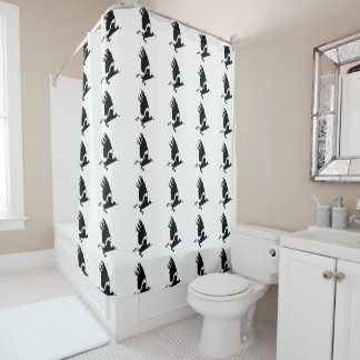 Bird in flight shower curtain