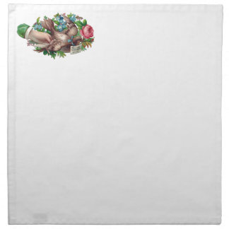 Bird in Hand Victorian Calling Card Printed Napkins