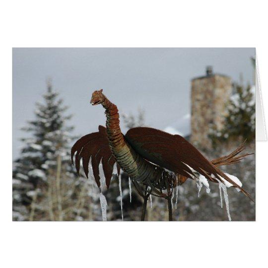 Bird In Need Of De-Icing Card