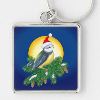 Bird in Santa Hat Key Chains