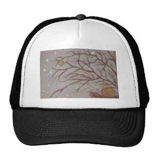 Bird in the bush mesh hat